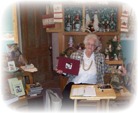 Gail at the booksigning at the bookstore in Peabody, KS