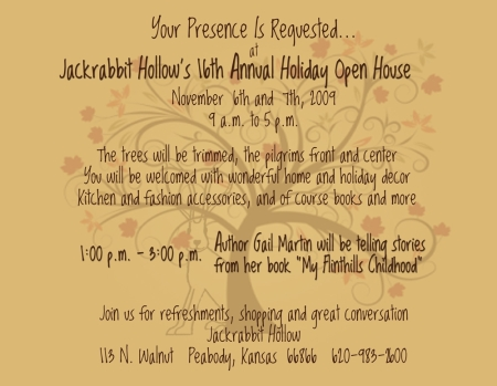 Don't miss this fun event on Saturday, November 7 !!